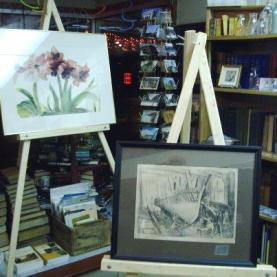 Art show at the Book Hound